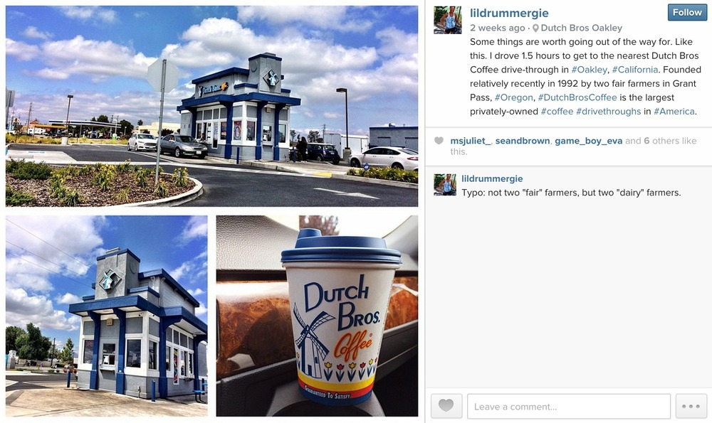 May 21, 2015: Dutch Bros Coffee drive-through in Oakley, California