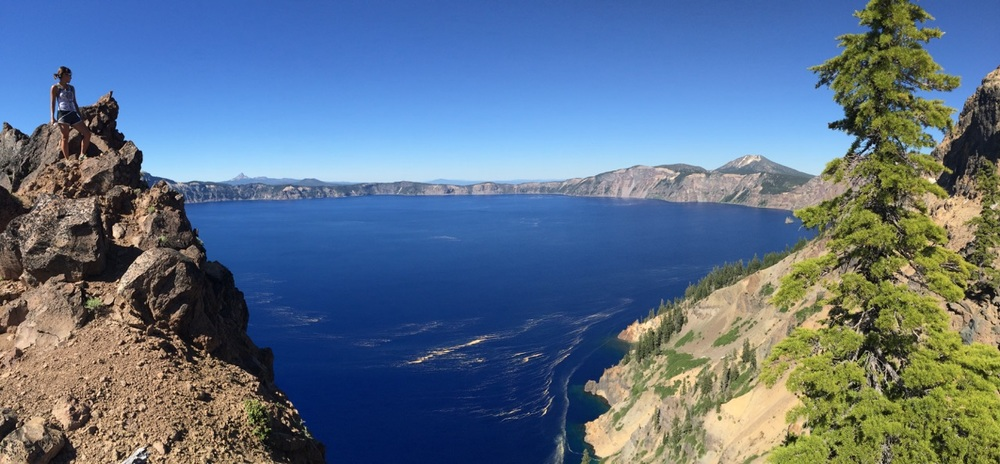 "Crater Lake is very special to me. I felt so at ease, so awed and so blown away, all at the same time, looking down into the deep blue lake and layers after layers of mountain in the horizon. That moment there, standing on the peak, it truly epitomized the phrase ""takes me breath away""."
