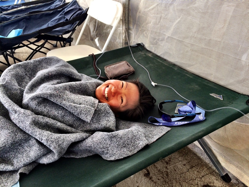 Medical tent IV drip.JPG