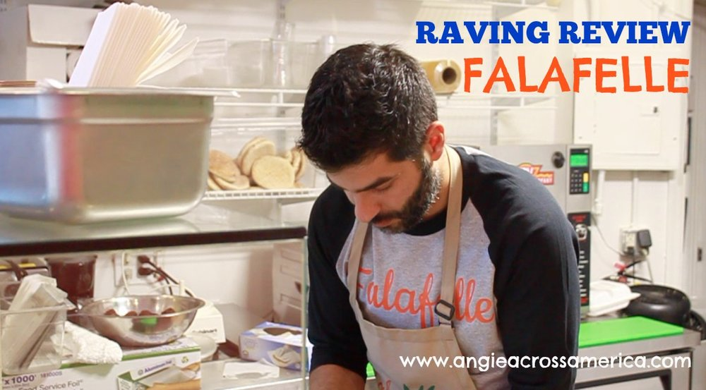 Khaled hard at work, serving the freshest, most authentic falafels in town