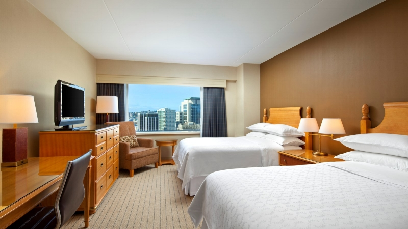 Picture credit: Sheraton downtown Seattle. Yes, our room looked exactly like this - it was superb!