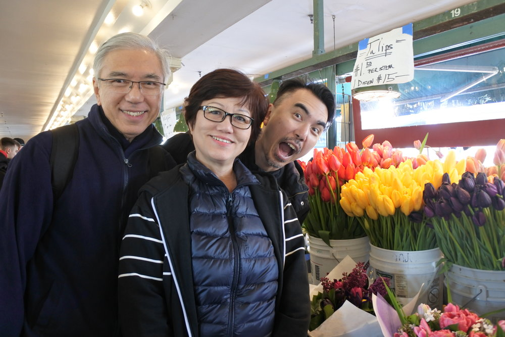 Fresh flowers on sale during Mother's Day
