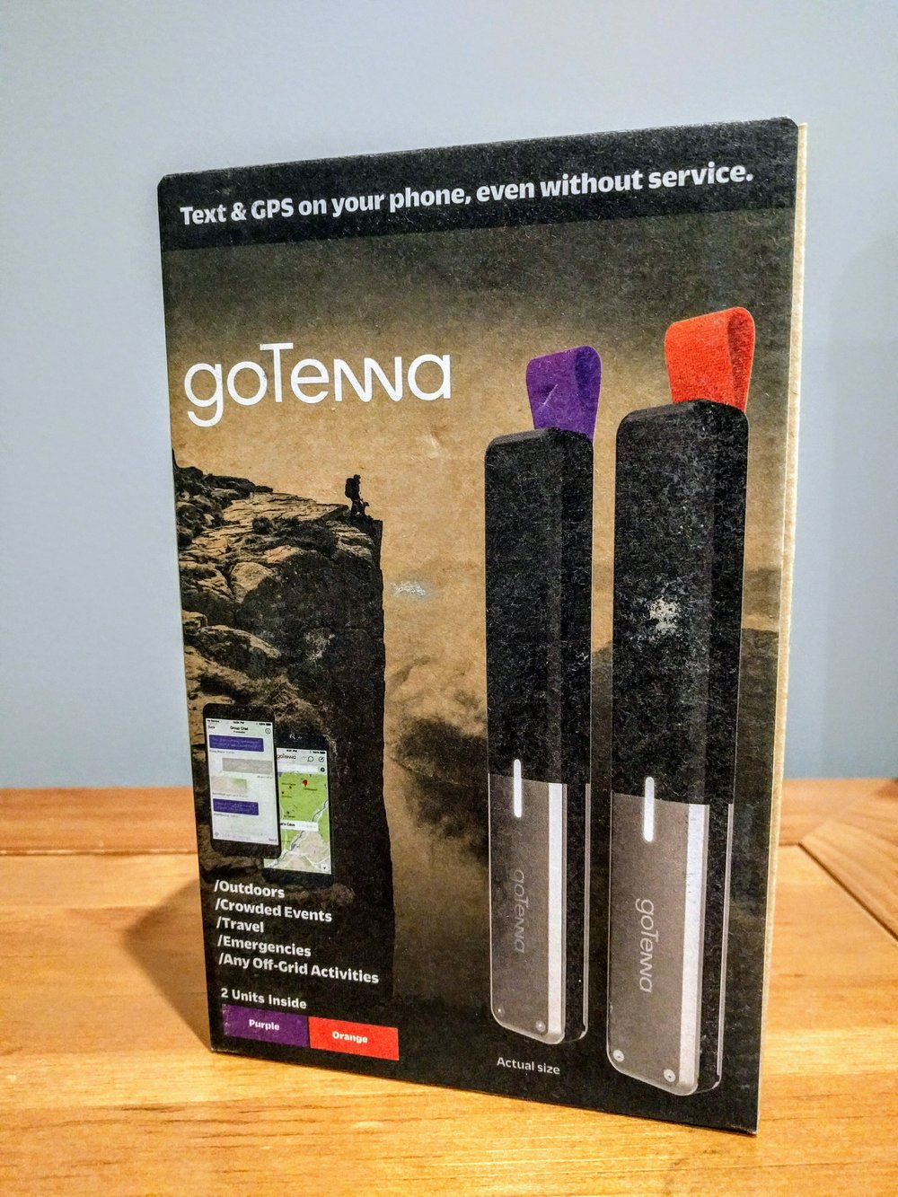 GoTenna  - stay communicated, even without cell phone service