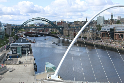 Vantage view of Newcastle