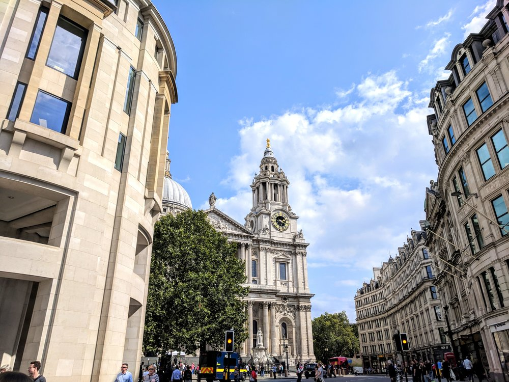 Ludgate Hill in central London