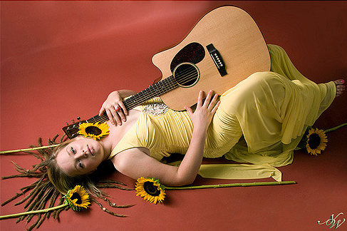 Crystal Bowersox in Studio, Chicago  Art Director, Photographer, Lighting, Wardrobe, Props, Post-Processing: Nicky Watts  2008
