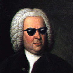 J. S. Bach with glasses