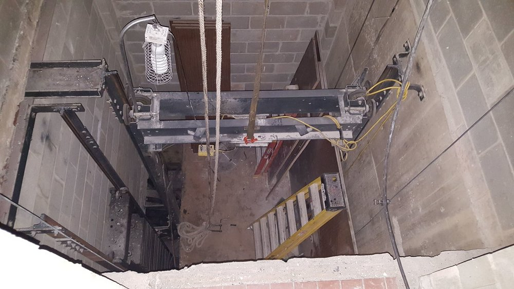 Elevator demo of car in the basement-min.jpg