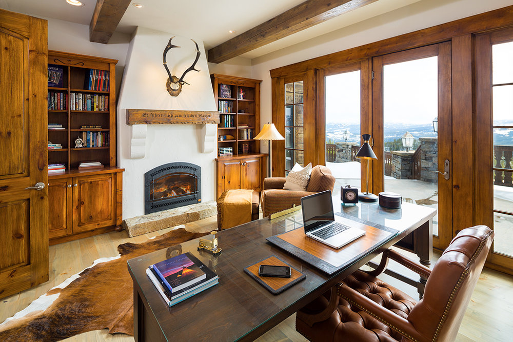 Modern Tudor by Shelter Interiors | Yellowstone Club | Big Sky, Montana