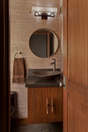 Custom Cabinetry, Vanity, Mirror and Doors by  Brandner Design