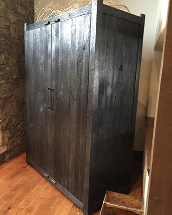 Custom Designed Armoire   constructed by Integrity Builders