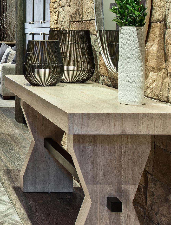 "Custom Console ""Basalt""  by Woodland Furniture"