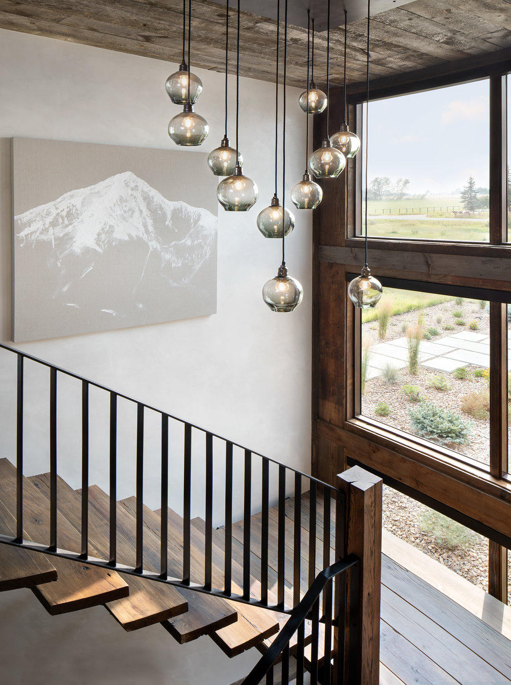 Glass Cluster Pendants   by OM STUDIOS - ONA MAGARO    Lone Peak IV   by SANDY EPSTEIN