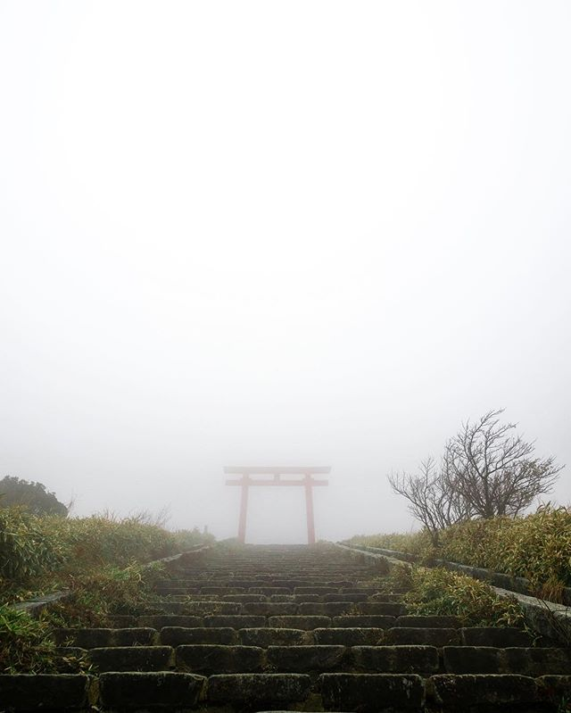 On my third day in Japan, I found myself alone at the top of a mountain, climbing the final few steps toward a Shinto shrine overlooking Mount Fuji.  Mount Komagatake, a neighbouring peak whose modest heights I was navigating, was engulfed in cloud that afternoon. A guide had off-handedly mentioned a shrine at the summit, and my ears perked up.  After finding and following the right path, I ended up with a few precious minutes alone in one of the most surreal and beautiful places I've ever been. . . . . . #getolympus #olympus #omd #OMDrevolution #em1mkⅡ #em1mk2 #olympusomd #unknownjapan #instagramjapan #voyaged #japanrevealed #visitjapan #wondermore #hikingtheglobe #neverstopexploring #earthoutdoors #exploretocreate #discoverearth #wondermore #roamtheplanet #stayandwander #fantasticearth #earthscope #folkscenery #candidfm