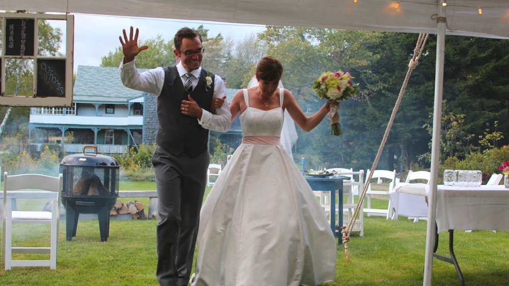 Wedding and reception by the ocean at Flood's Cove