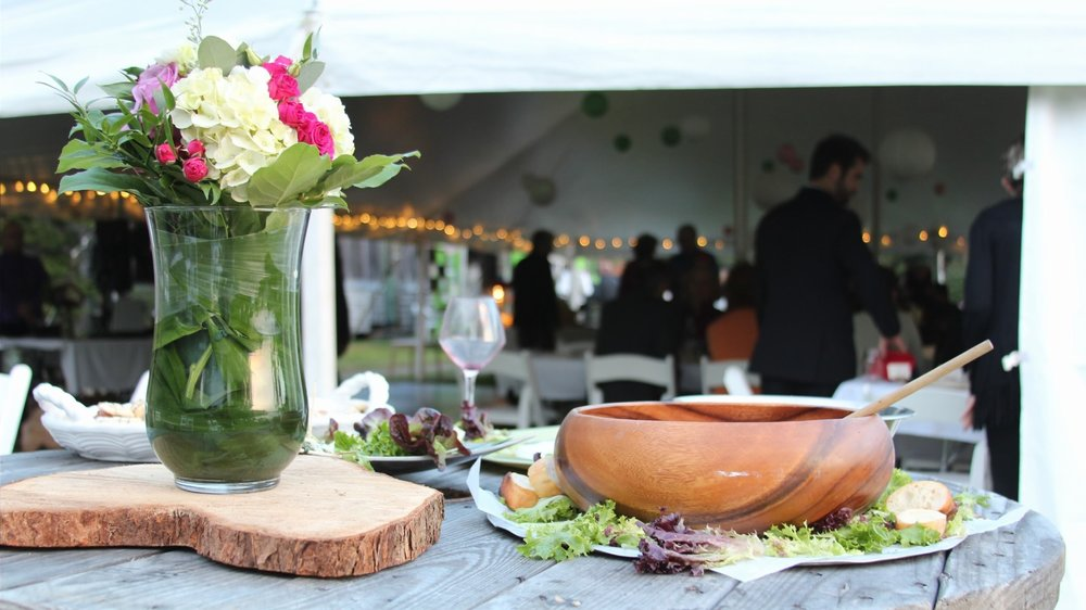 Room for wedding tent and caterers at Flood's Cove