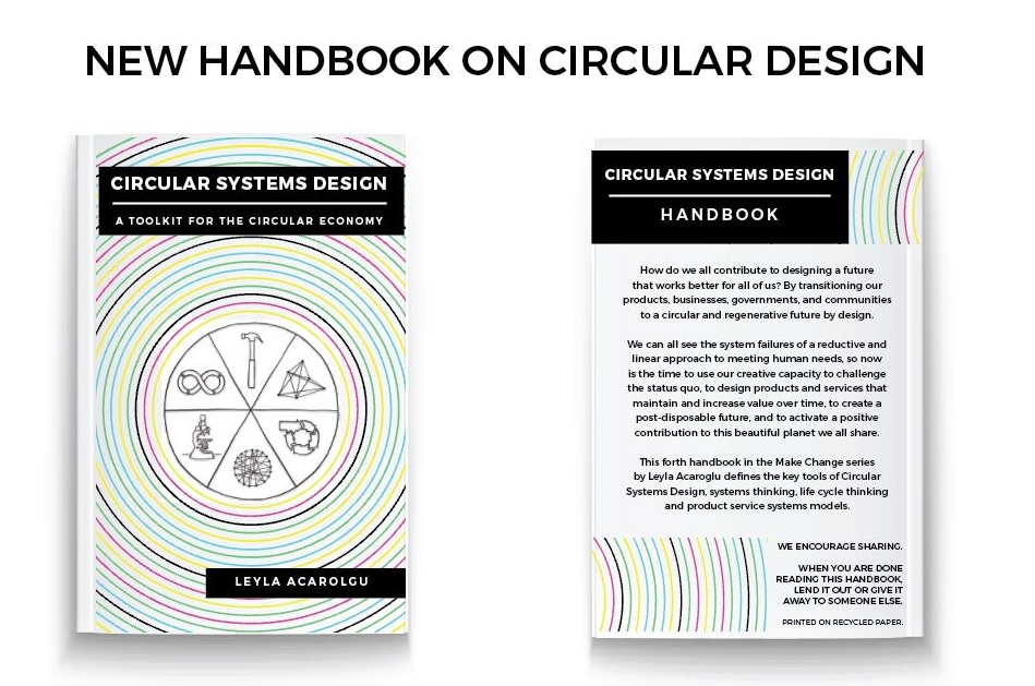 OUR NEW HANDBOOK ON CIRCULAR SYSTEMS DESIGN IS OUT NOW! - GET ALL THE KNOWLDGE ON CIRUCLAR THINKING FOR A SUSTAINABEL FUTURE WITH DR LEYLA ACAROGLU