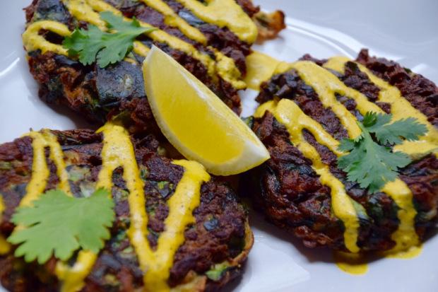 Kohlrabi & Garlic Scape Fritters