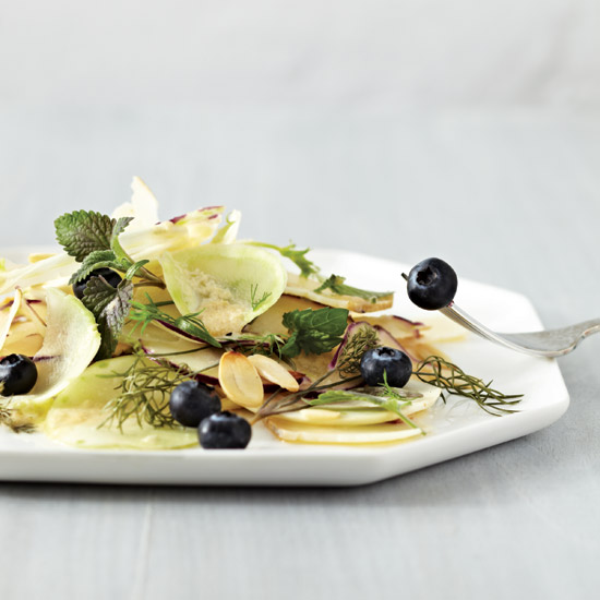 Kohlrabi, Fennel & Blueberry Salad