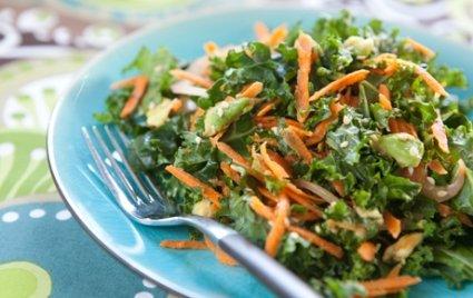 Kale, Carrot, & Avocado Salad