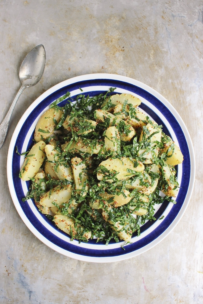Potato Salad with Massaged Kale