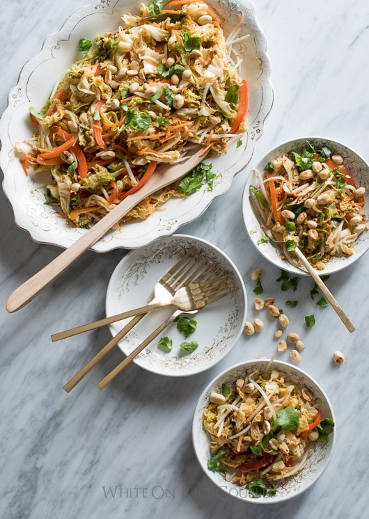 Pad Thai with Cabbage & Carrots