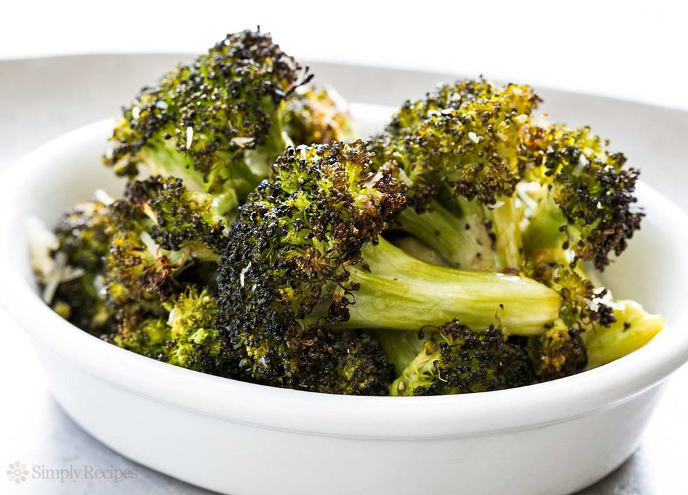 Roasted Broccoli w/ Parmesan.