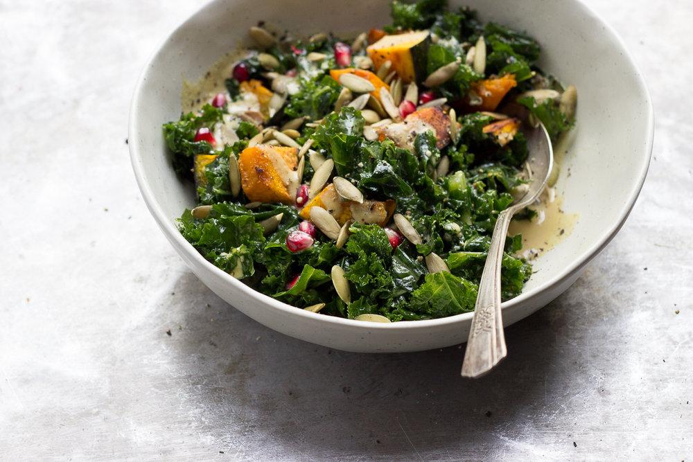 Kabocha & Kale Salad