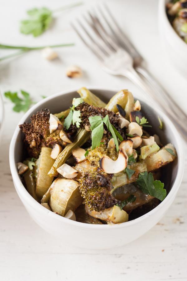 Roasted Broccoli & Kohlrabi Salad
