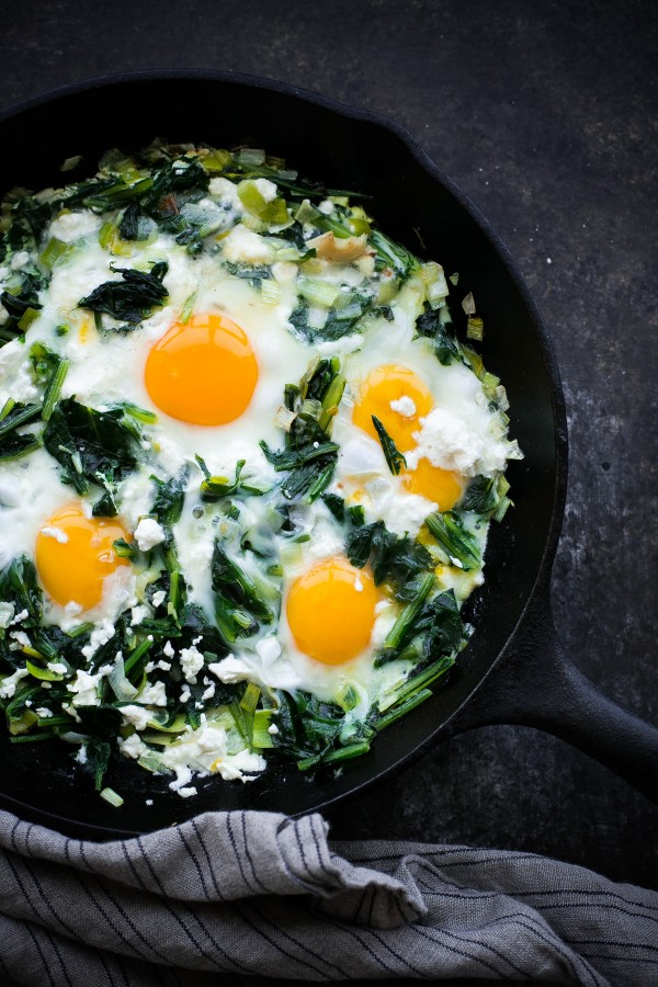 Dandelion Greens with Eggs