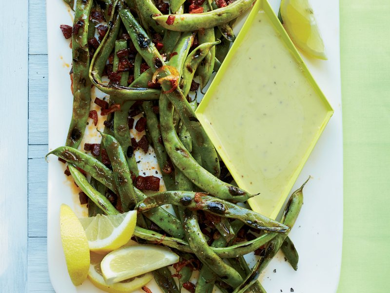 Cast-Iron Grilled Romano Beans
