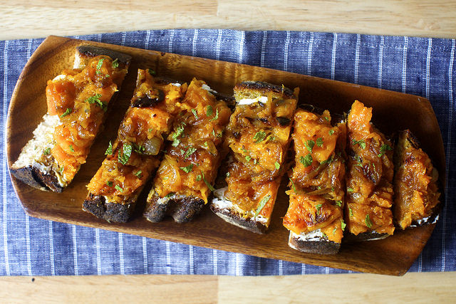 Squash Toasts with Ricotta