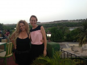 Malia and me in Cuba last summer, at a rooftop restaurant overlooking Havana!