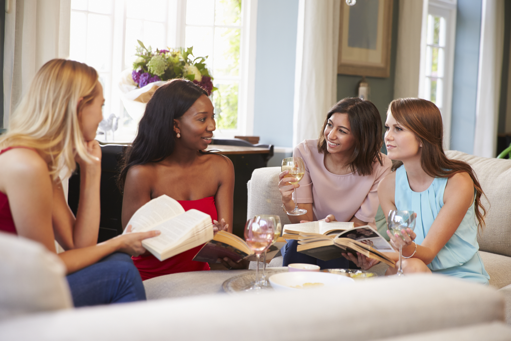 Getting together with women to share and connect can sometimes be easier and more fun with a book as our excuse!