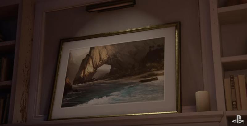 Artwork in Uncharted 4 Trailer.