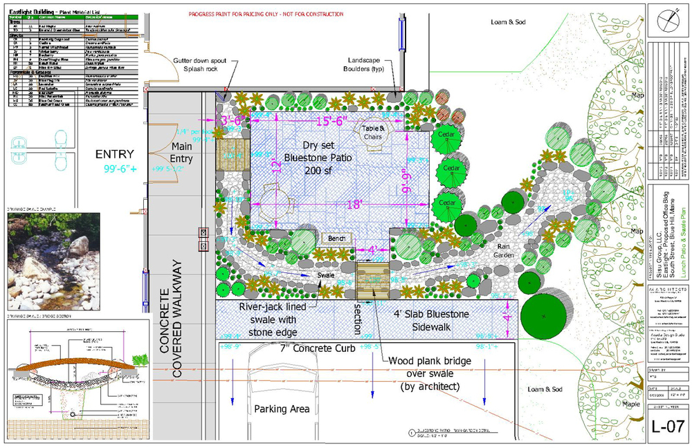 Rain Garden / Lunch Terrace Plan at Eastlight