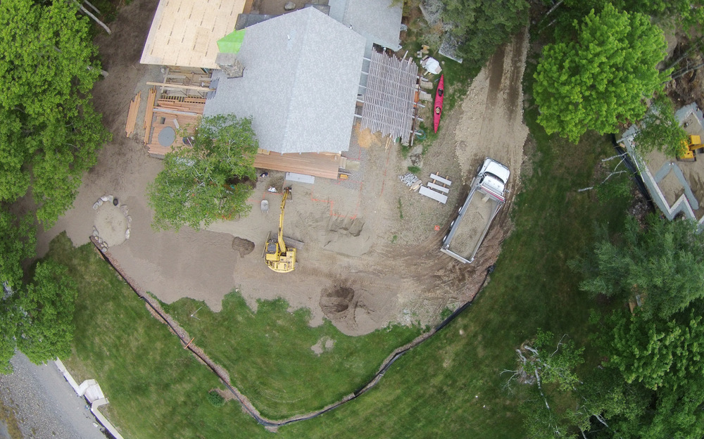 Aerial Drone Photo of jobsite progress