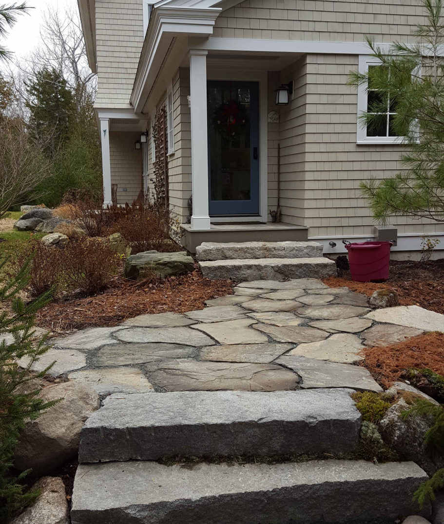 Heritage Valley Paver Walkway with stone steps