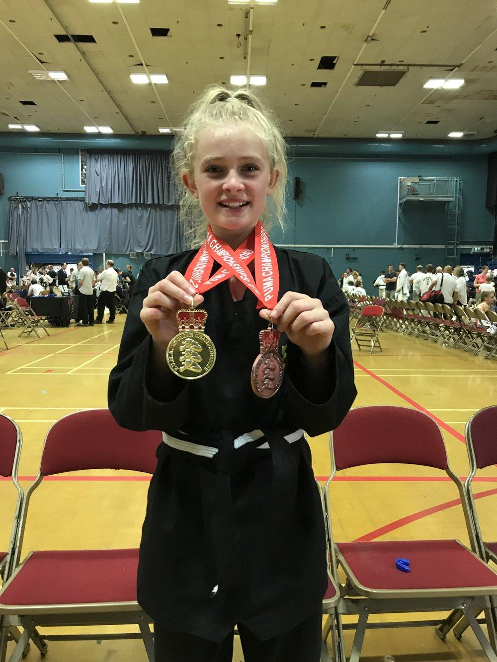 Tia - BTKD MarlowPUMA English Championships 2018 Bronze Patterns & Gold Individual Sparring