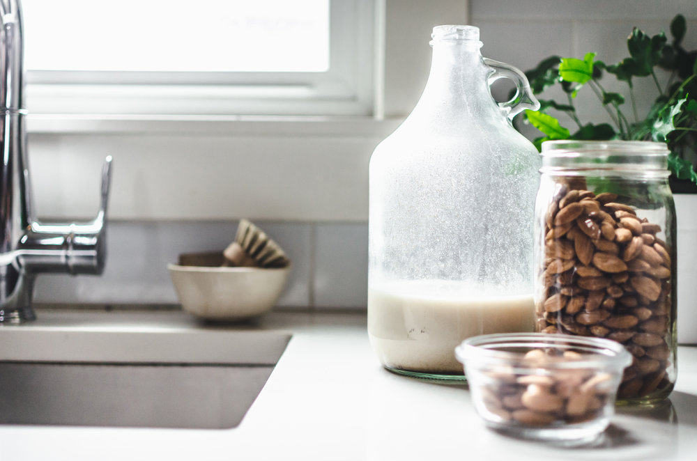 9. Make your own nut milk - Try making something from bulk ingredients rather than buying it packaged, nut milk, nut butter, even tortillas are a few things you can make!Chloé's nut milk recipe is super quick and easy!