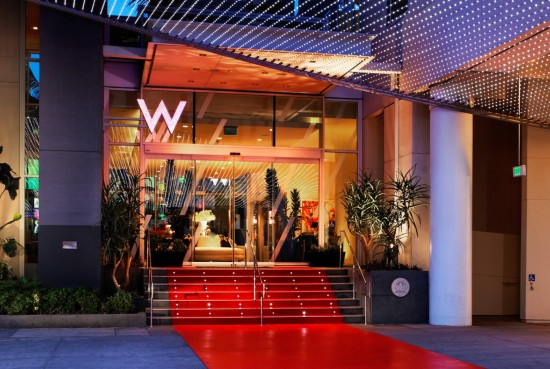 Entrance to W Hollywood