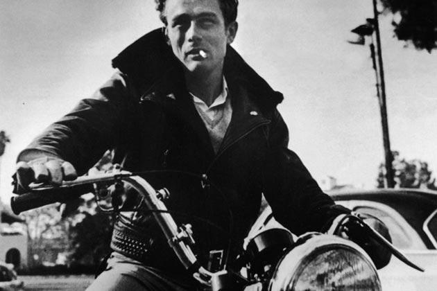 James Dean in Biker Jacket