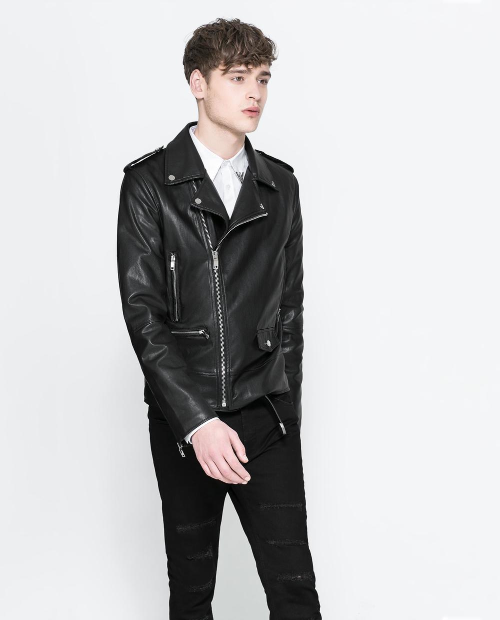 Faux Leather Biker Jacket by Zara (85.00)
