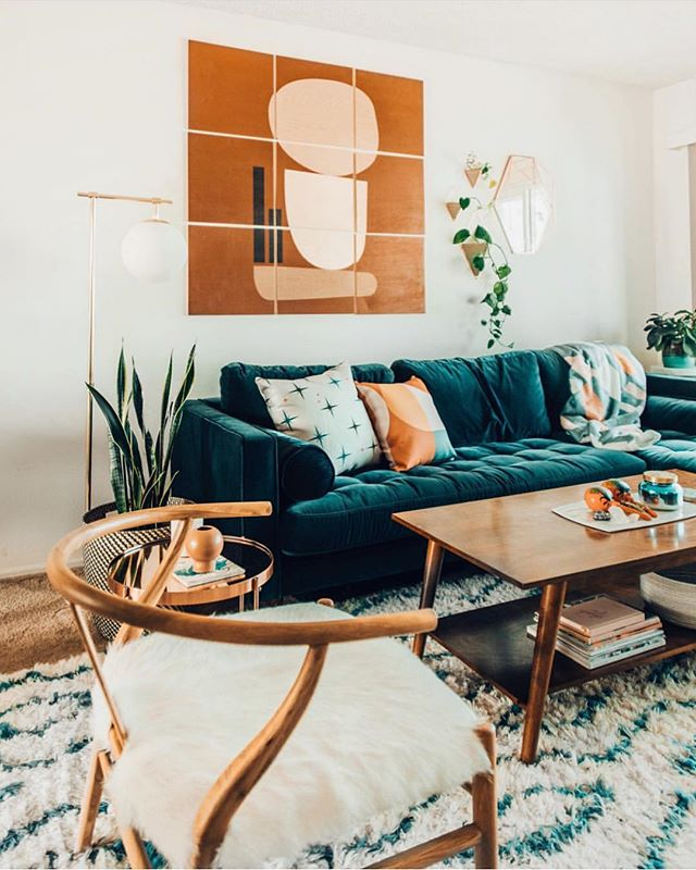 Happy Friday from @ariellevey cute setup! How perfect did our Causeway Chair fit in this space? Thanks for keeping our instafeed and lives colorful! 🧡