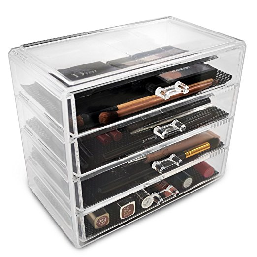 Sorbus - Acrylic Drawer - This is the mega organizer that has four drawers. You can add makeup or hair accessories.. or both. Looks super clean, classy and sophisticated.
