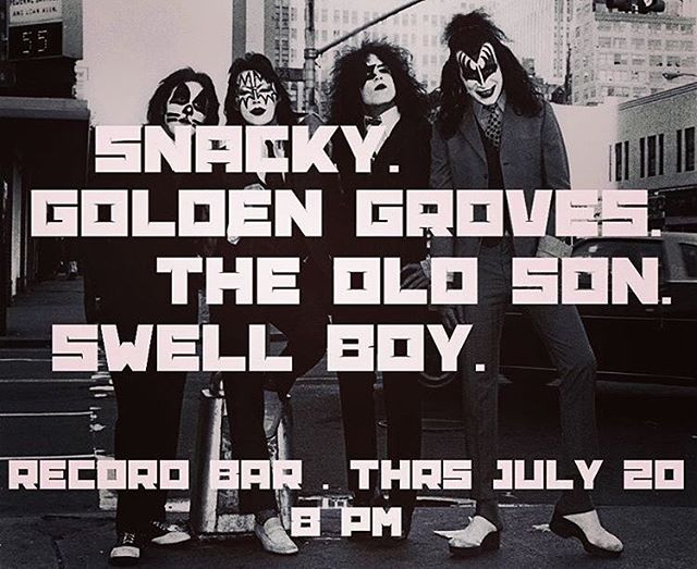 We can't wait!! First time playing with our really good friends #swellboy @theoldson and @snackymusic. This night couldn't be any better!! . . #goldengrovesmusic #indierock #kcmusic #messengercoffee #recordbar