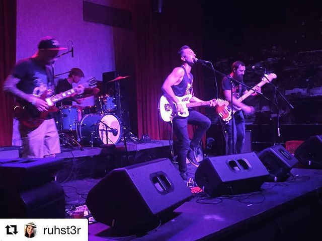 We had a blast last night in support of @messengercoffee!! It's always good to play @recordbar! Thanks for the great pic @ruhst3r!! #goldengrovesmusic #indierock #kcmusic #recordbar #dinosaurs