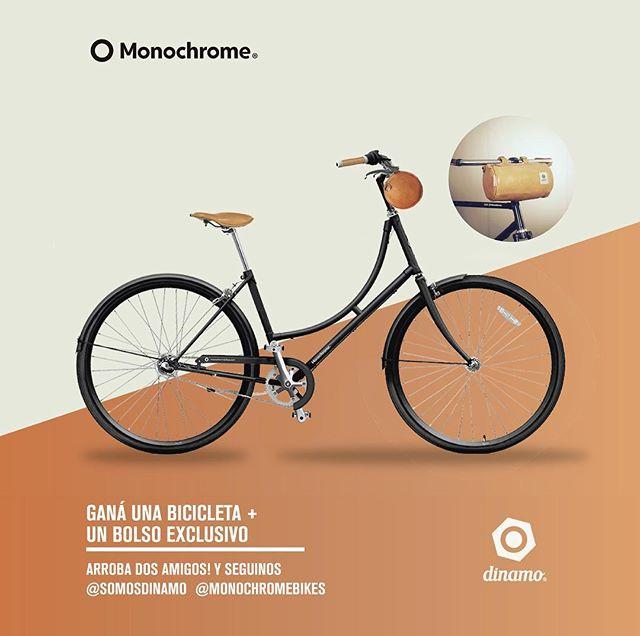 Ganá una Bici de @monocrhomebikes y un Bolso de @somosdinamo Participar es muy fácil:  1  Segui a @monochromebikes y @somosdinamo 2 Arroba dos amigos en esta publicación 3 Registrate en https://www.monochromebikes.com/concurso