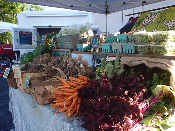Two farmers markets a week