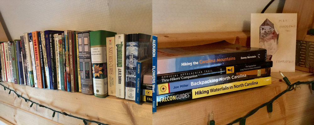 Small library, brochures for local attractions and local hiking/waterfall books available for use.